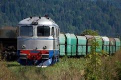 Oude diesel elektrische locomotief Royalty-vrije Stock Fotografie