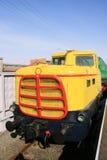 Oude Diesel Locomotief stock foto's