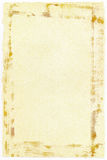 Oude document achtergrond met haveloze randen Stock Foto's