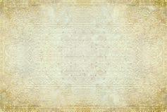 Oude document achtergrond met tracery Royalty-vrije Stock Afbeelding