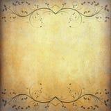 Oude document achtergrond met uitstekende bloem Royalty-vrije Stock Foto