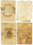 Oude document achtergronden Royalty-vrije Stock Fotografie