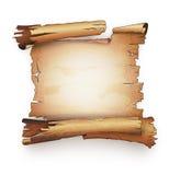 Oude document de bundelbanner van het rol antieke manuscript Stock Foto's