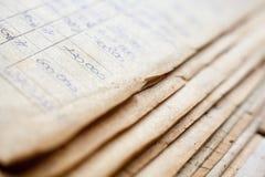 Oude document documenten in het archief royalty-vrije stock fotografie