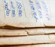 Oude document documenten in het archief royalty-vrije stock foto's