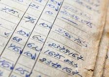 Oude document documenten in het archief stock foto's