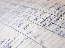 Oude document documenten in het archief royalty-vrije stock afbeelding