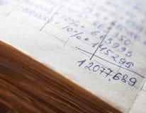 Oude document documenten in het archief stock fotografie