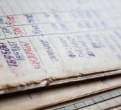 Oude document documenten in het archief royalty-vrije stock afbeeldingen