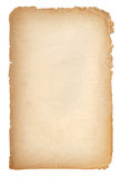 Oude document grunge textuur, lege gele pagina Royalty-vrije Stock Afbeelding