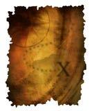 Oude document kaart royalty-vrije illustratie