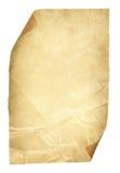 Oude Document Pagina, Bruin Verfrommeld Blad Ruw Oud Textuur en C Stock Afbeeldingen