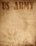 """Oude document textuur met het """"leger van de V.S."""" Royalty-vrije Stock Foto"""