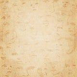 Oude document verouderde textuur als achtergrond Royalty-vrije Stock Afbeeldingen