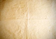Oude document vouwentexturen, uitstekende achtergrond Stock Foto