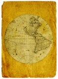 Oude document wereldkaart royalty-vrije illustratie