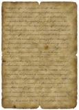 Oude document wijnoogst met tekst - abstracte achtergrond Stock Afbeeldingen