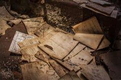 Oude Documenten Verlaten Alquife Mijnen stock foto