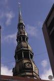 Oude Dom van Riga toren Royalty-vrije Stock Foto's