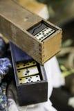 Oude domino royalty-vrije stock afbeeldingen