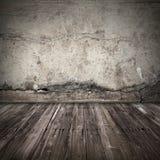 Oude donkere grunge binnenlandse achtergrond Stock Foto's