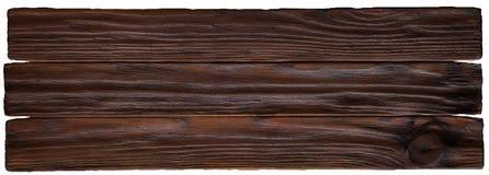 Oude donkere houten van de plankentextuur plaat als achtergrond Stock Foto's