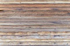 Oude Doorstane Houten Muur Stock Afbeelding