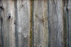 Oude doorstane houten muuroppervlakte dicht omhoog Stock Fotografie