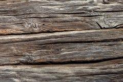 Oude Doorstane natuurlijke houten textuurachtergrond Royalty-vrije Stock Foto's