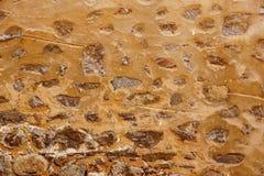 Oude Doorstane Verflaag op Grey Concrete Wall Texture Stock Foto's