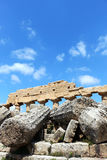 Oude Dorische Griekse tempel in Selinunte Royalty-vrije Stock Foto