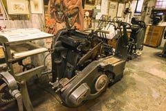 Oude drukmachine Stock Foto