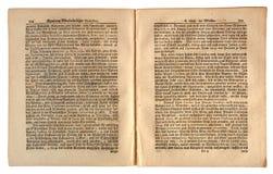 Oude Duitse Krant gedateerd 1739 Stock Foto