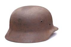 Oude Duitse legerhelm Royalty-vrije Stock Foto's