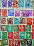 Oude Duitse Postzegels Stock Foto's