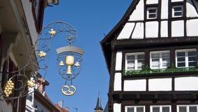 Oude Duitse stad stock afbeelding