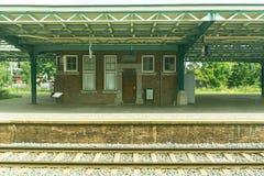 Oude Duitse stationstructuur Stock Afbeelding