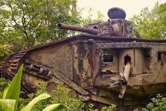 Oude Duitse tank Stock Afbeelding
