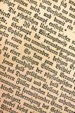 Oude Duitse tekst 1900 Stock Afbeelding