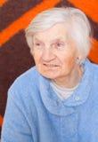 Oude eenzame vrouw Royalty-vrije Stock Foto