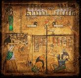 Oude egirtian papyrus Royalty-vrije Stock Fotografie