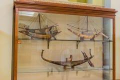 Oude Egyptische boten in Museum royalty-vrije stock foto's