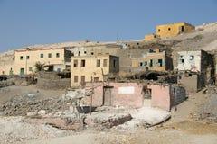 Oude Egyptische dorpsluxor Royalty-vrije Stock Foto's