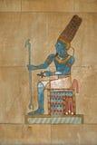 Oude Egyptische geschilderde hulp stock afbeelding