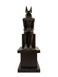 Oude Egyptische god Anubis royalty-vrije stock foto