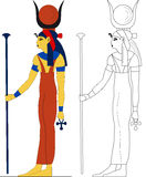 Oude Egyptische godin - Hathor Royalty-vrije Stock Foto's