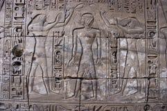 Oude Egyptische Hiërogliefen, Egypte Royalty-vrije Stock Afbeelding