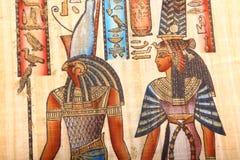 Oude Egyptische Koningen en Koningin Stock Foto