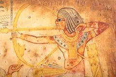 Oude Egyptische Koningen en Koningin Papyrus Stock Afbeelding