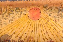 Oude Egyptische Koningen en Koningin Papyrus Stock Foto's